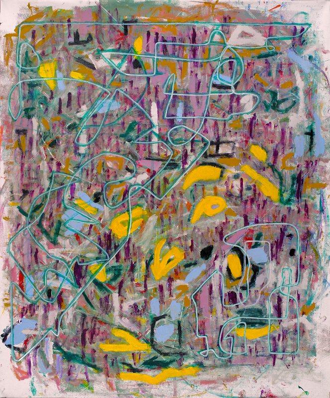 Številka 8. 2014. Akril na platnu, flomaster. 120 x 101 cm