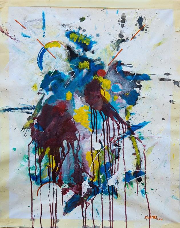 The Amazon. 2015. Acrylic on canvas, marker. 85 x 65 cm